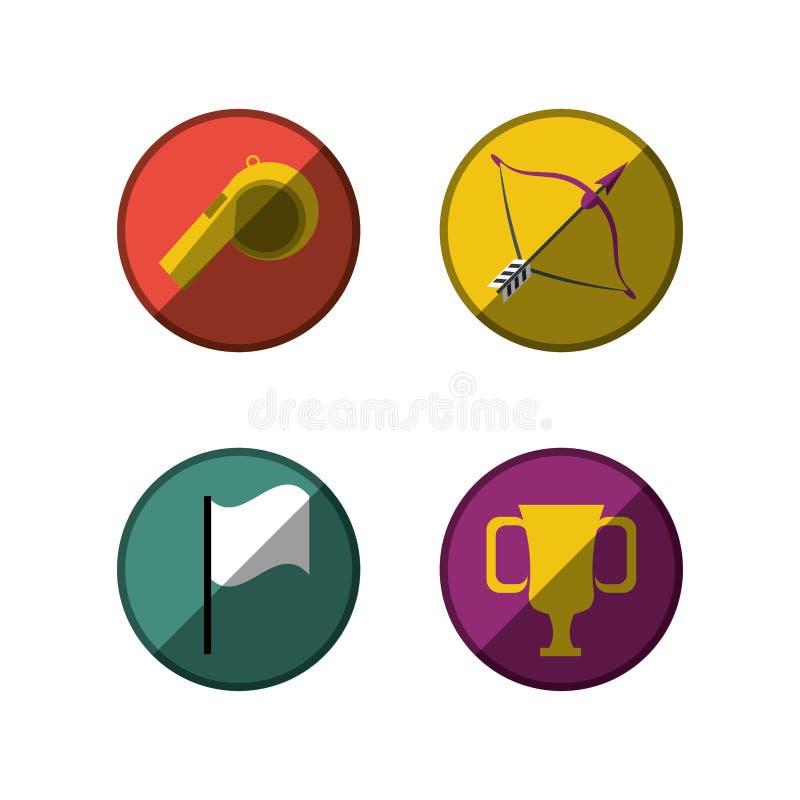 集合平的象用工具加工体育 向量例证