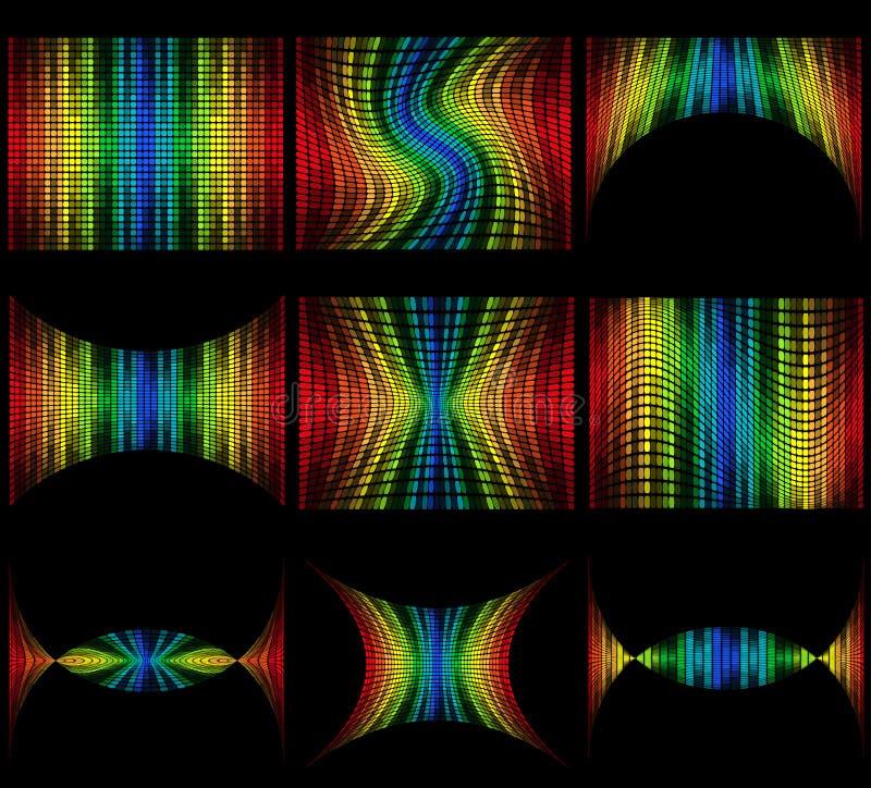 集合抽象多彩多姿的图表调平器传染媒介例证 库存例证