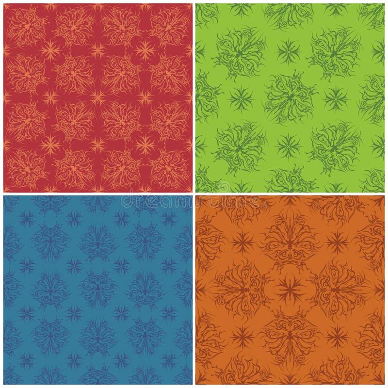 集合抽象样式,无缝 向量例证