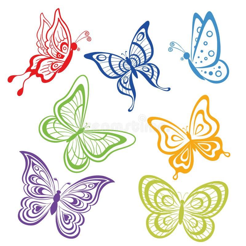 集合抽象蝴蝶 向量例证