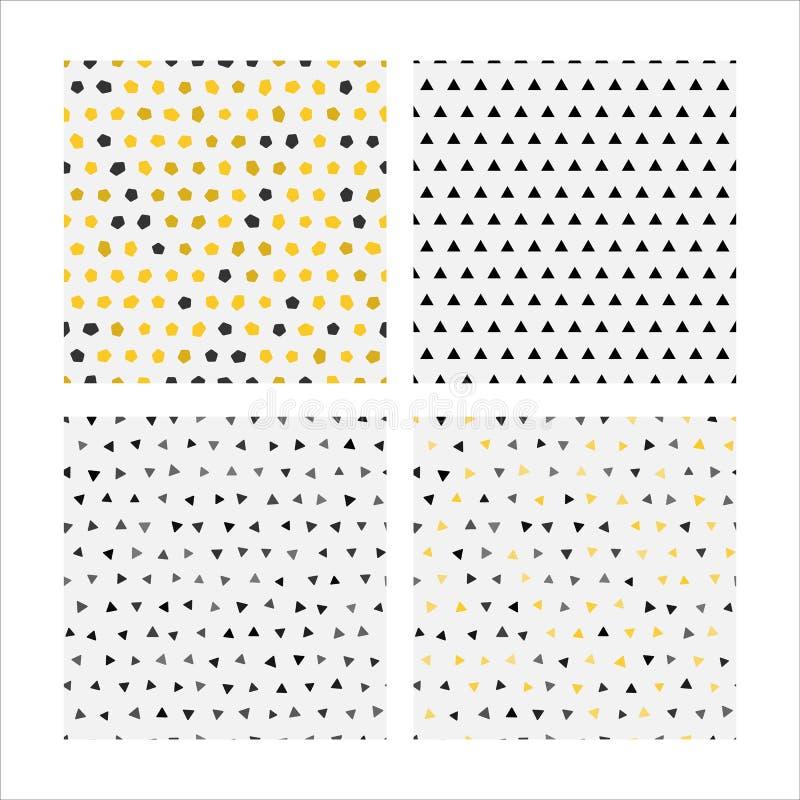 集合无缝的样式传染媒介图象 库存例证