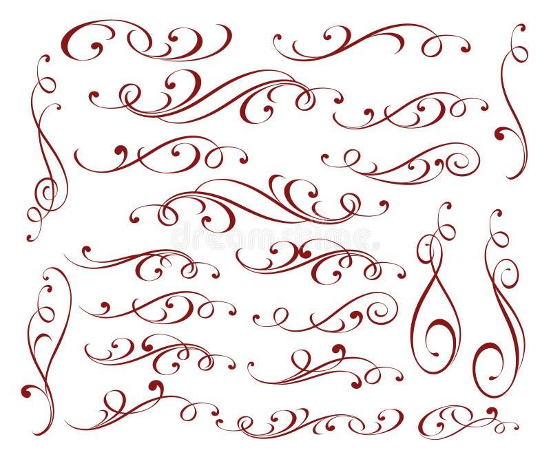 集合装饰规则排行另外设计 例证百合红色样式葡萄酒 皇族释放例证