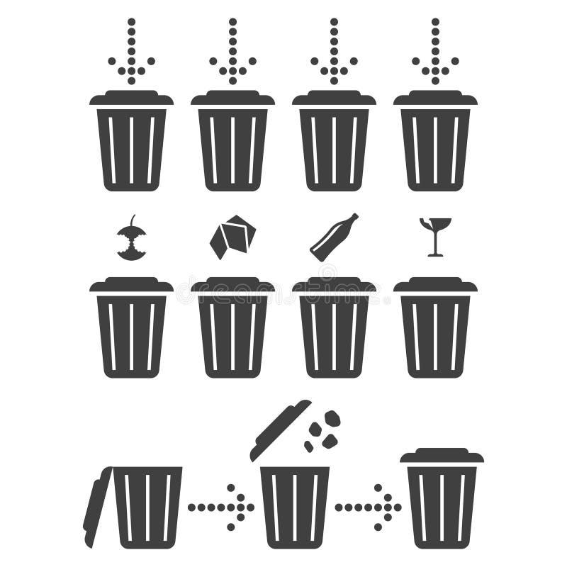 集合象分离回收 E 库存例证