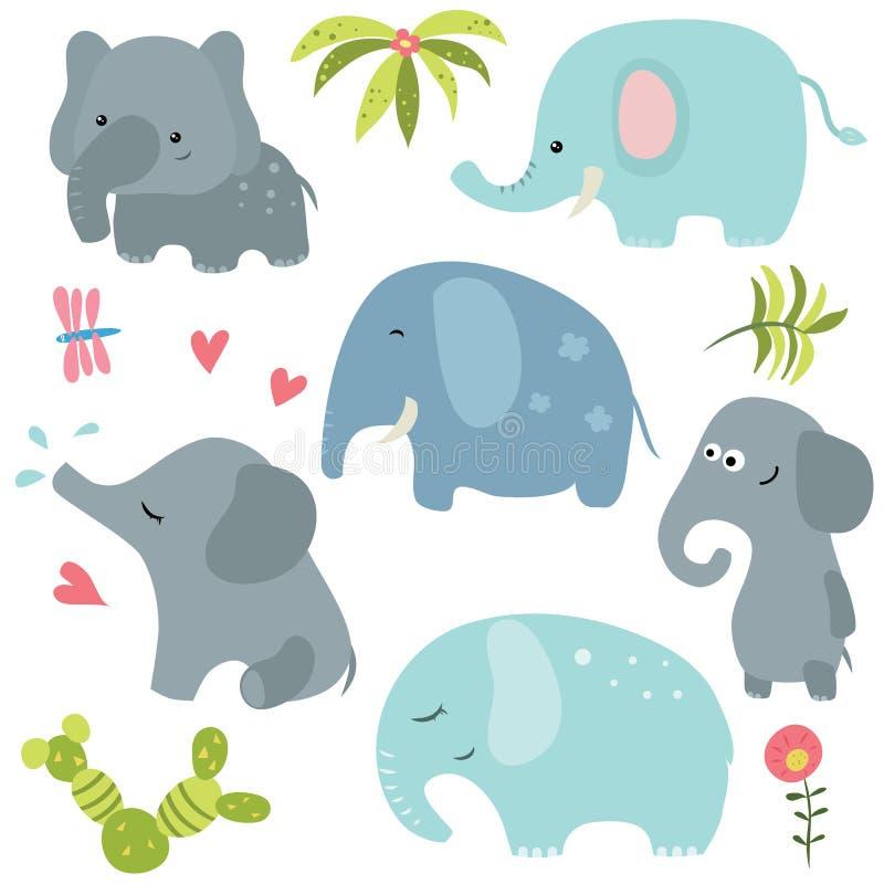 集合滑稽的大象图片