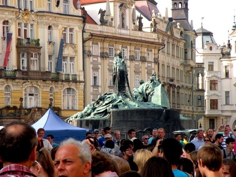 集市广场在布拉格9 免版税库存照片