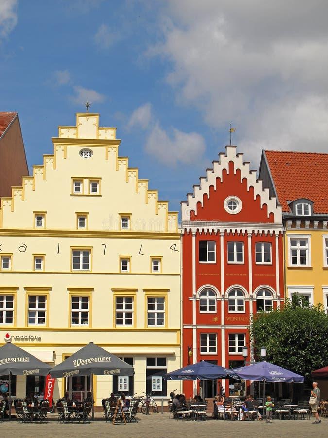 集市广场在格赖夫斯瓦尔德 免版税库存照片