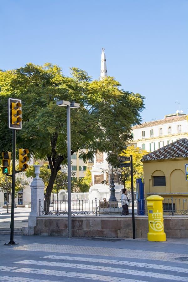 集市广场在马拉加 免版税库存照片