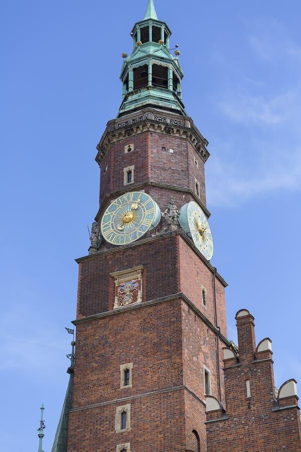 集市广场的,钟楼,弗罗茨瓦夫,波兰哥特式弗罗茨瓦夫老城镇厅图片