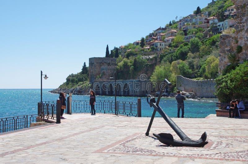 集成电路无头甘蓝(内在城堡),阿拉尼亚,土耳其 库存图片