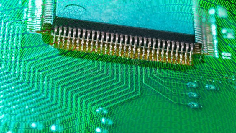 集成电路 电子元件表面登上技术  免版税库存照片