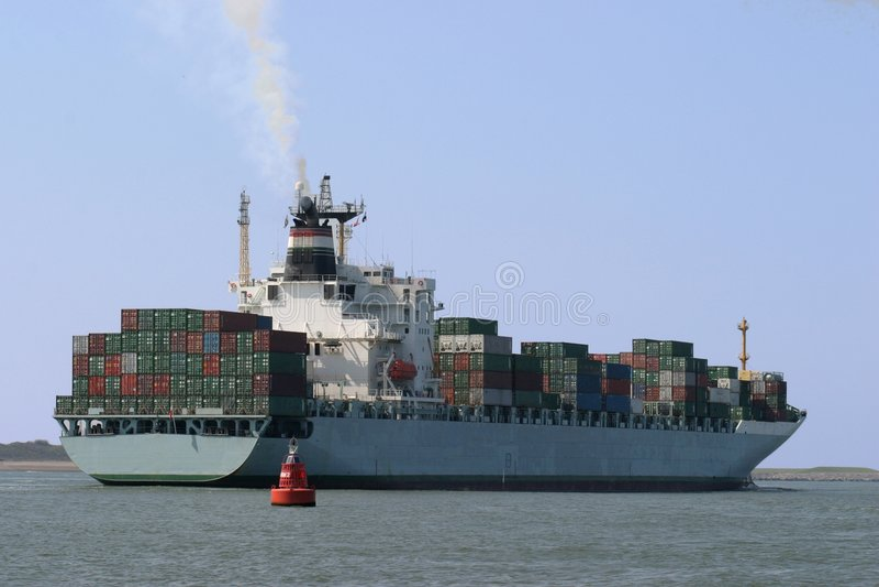 集装箱船 库存图片