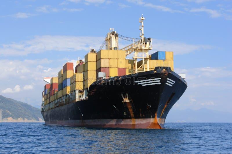 集装箱船 免版税库存图片