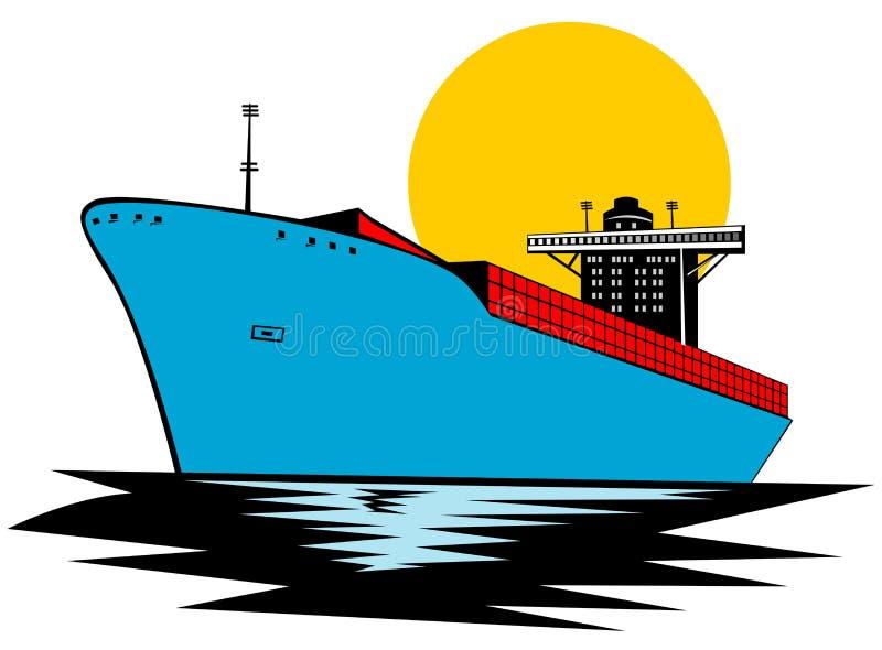 集装箱船 库存例证