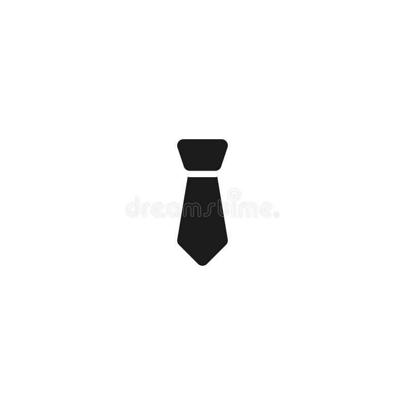 雇员标志的领带象 简单的干净的专业业务管理概念传染媒介例证设计 库存例证