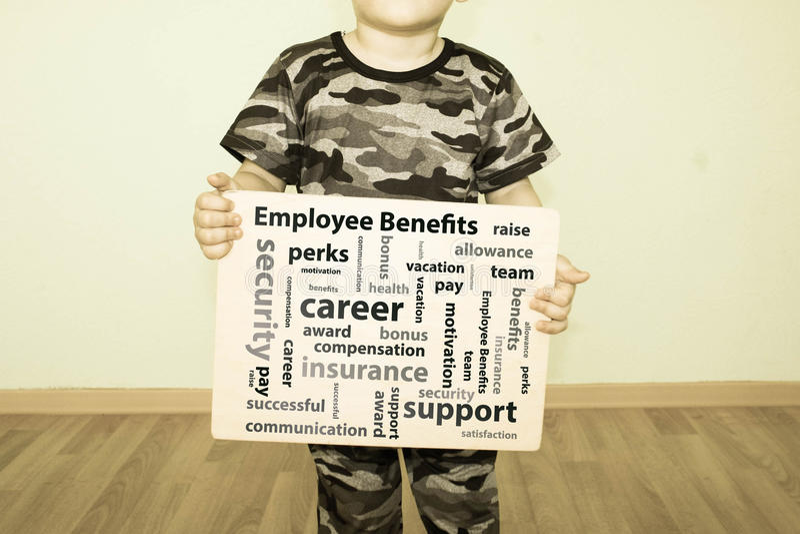 雇员福利概念 照片 免版税库存照片