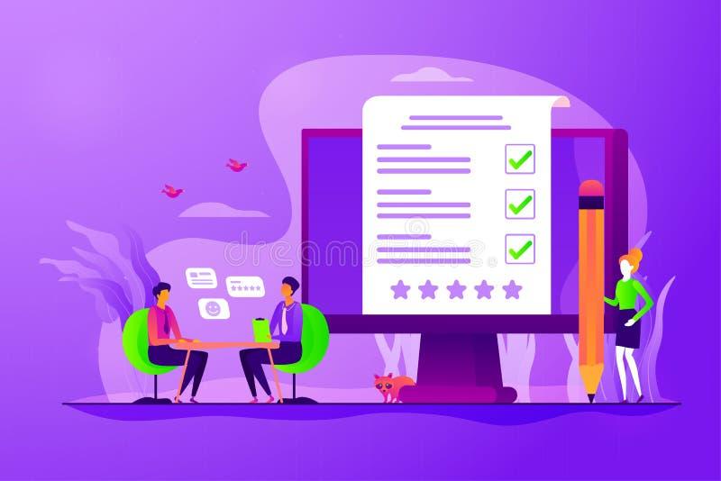 雇员评估概念传染媒介例证 向量例证