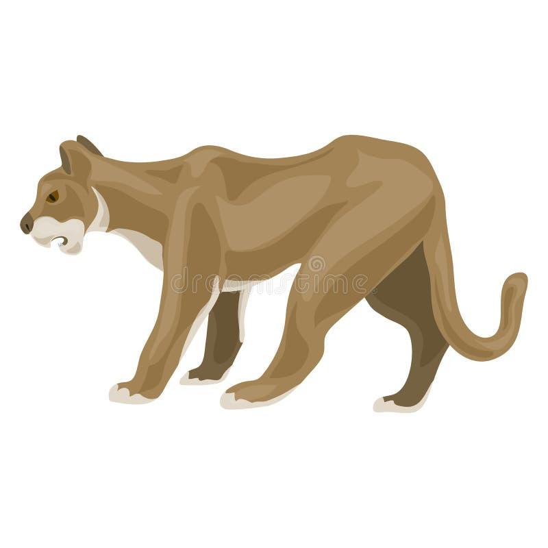 雌狮象,动画片样式 向量例证
