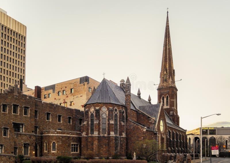 雍容主教制度的教会 库存照片