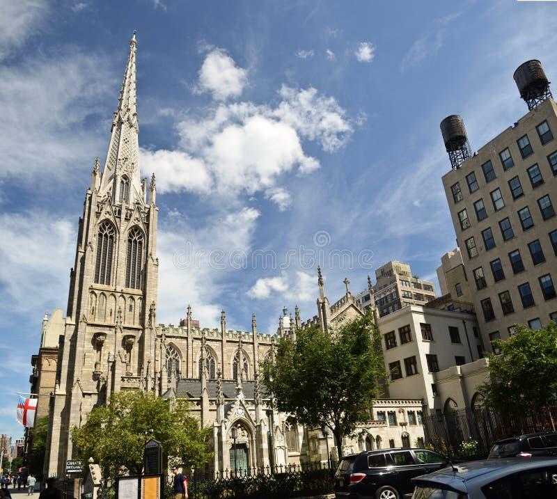雍容教会在更低的纽约 免版税库存图片