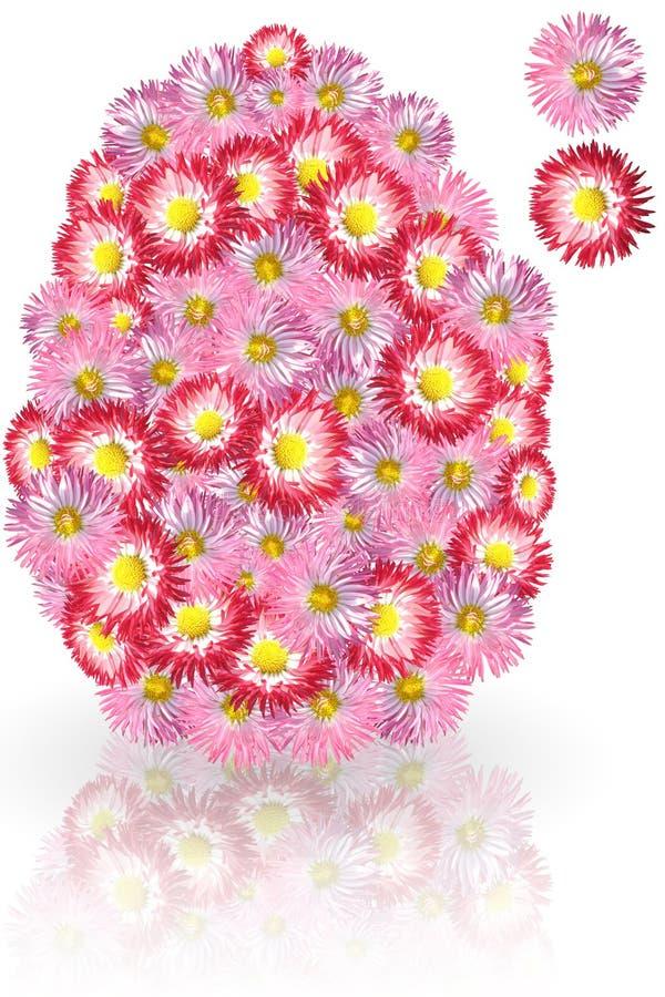 雏菊复活节彩蛋 库存照片