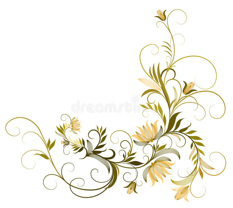 雏菊花纹花样 向量例证