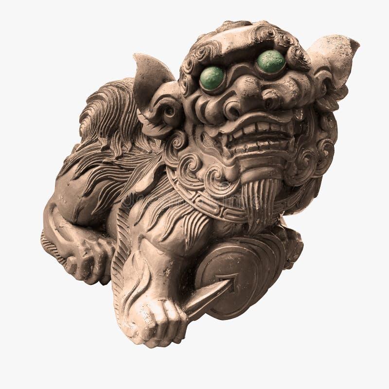 雕刻中国查出的石寺庙 免版税库存照片