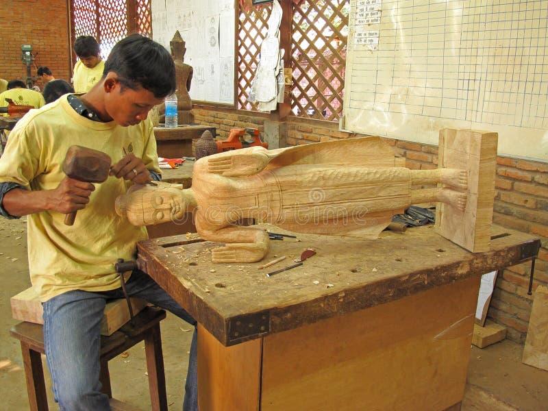 雕刻木头 库存照片