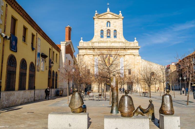 雕刻的复合体的看法在帕伦西亚,西班牙 库存图片