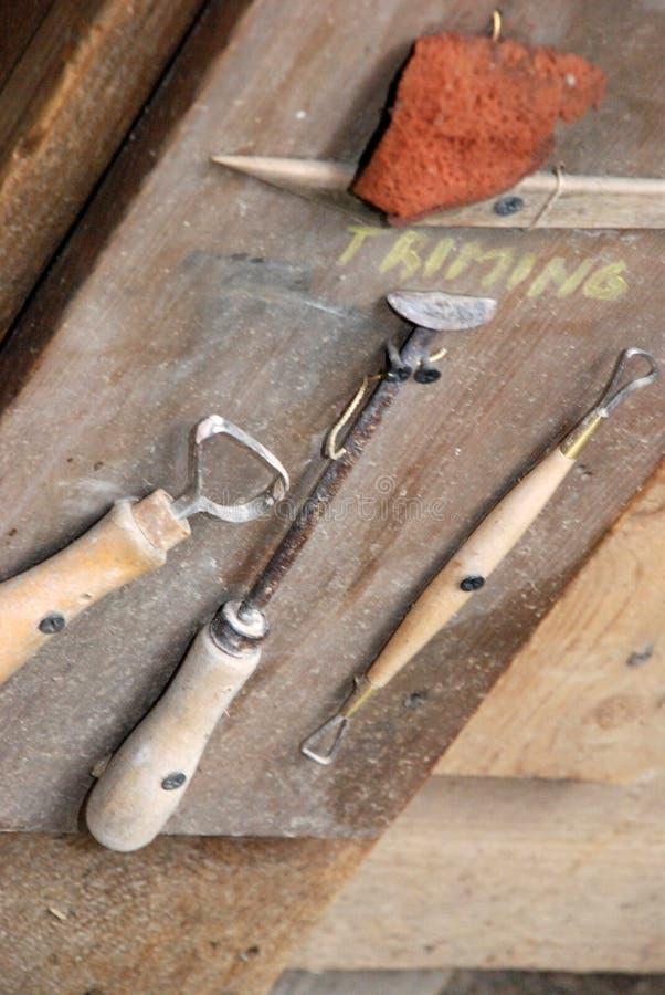 雕刻的工具 免版税库存照片