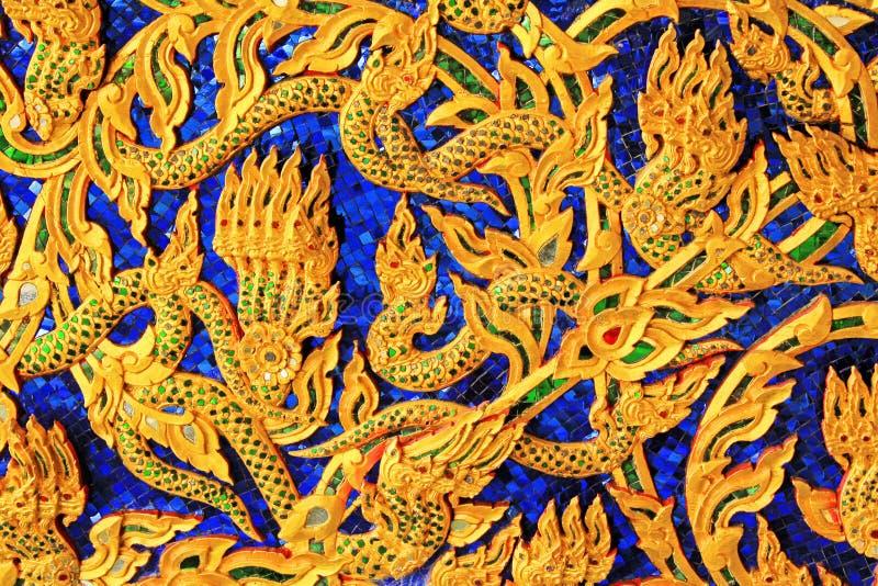 雕刻皇家干涉皇家驳船国家博物馆,曼谷,泰国 库存照片