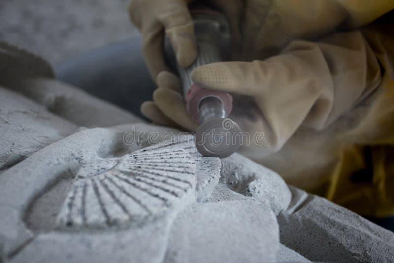 雕刻石头 免版税库存照片