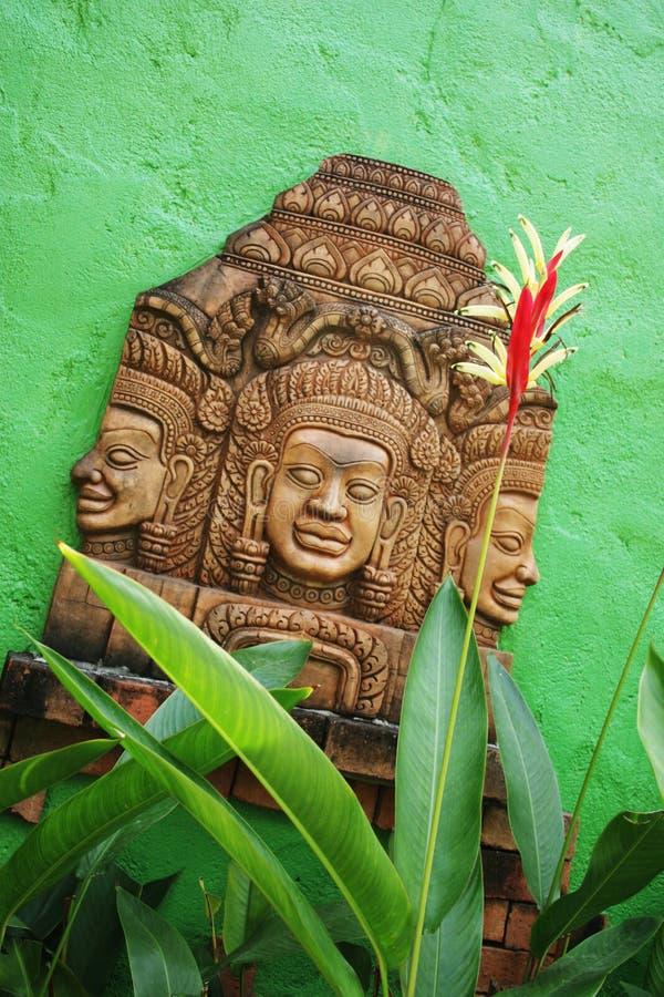 雕刻石泰国传统 库存图片