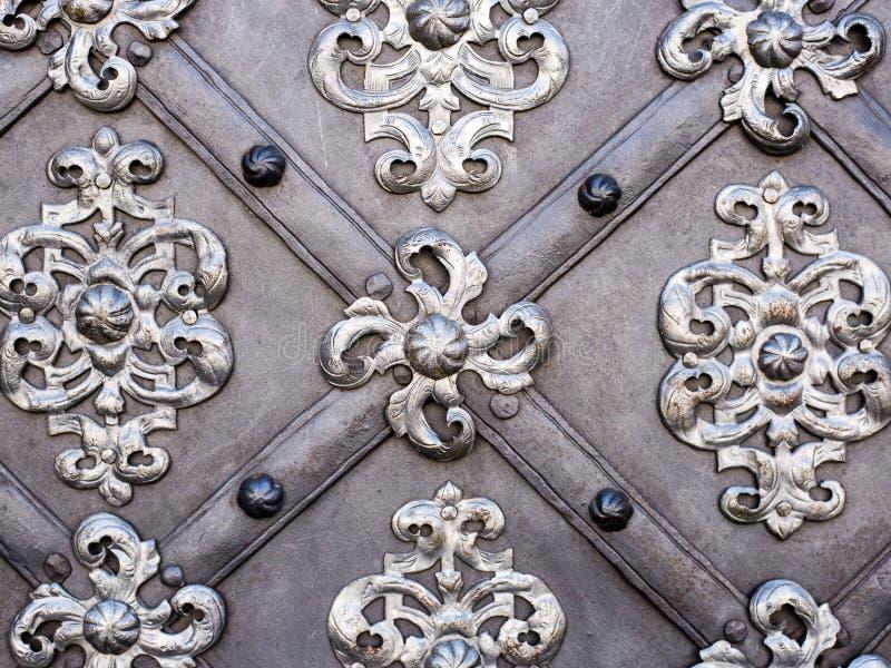 雕刻银器的艺术和样式,金属饰件 库存图片