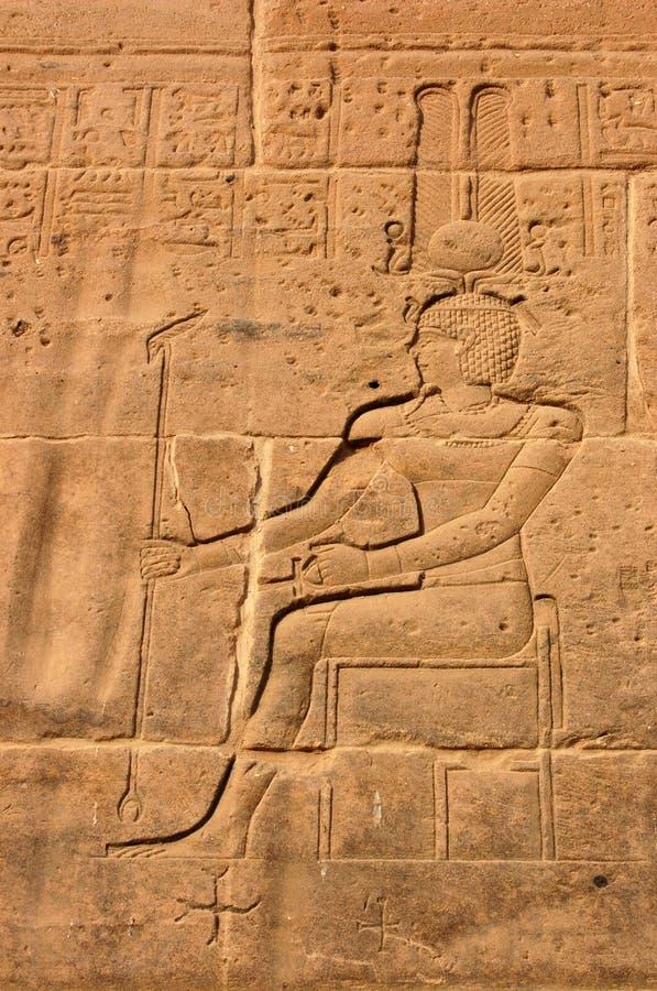 雕刻镭的amun 库存照片