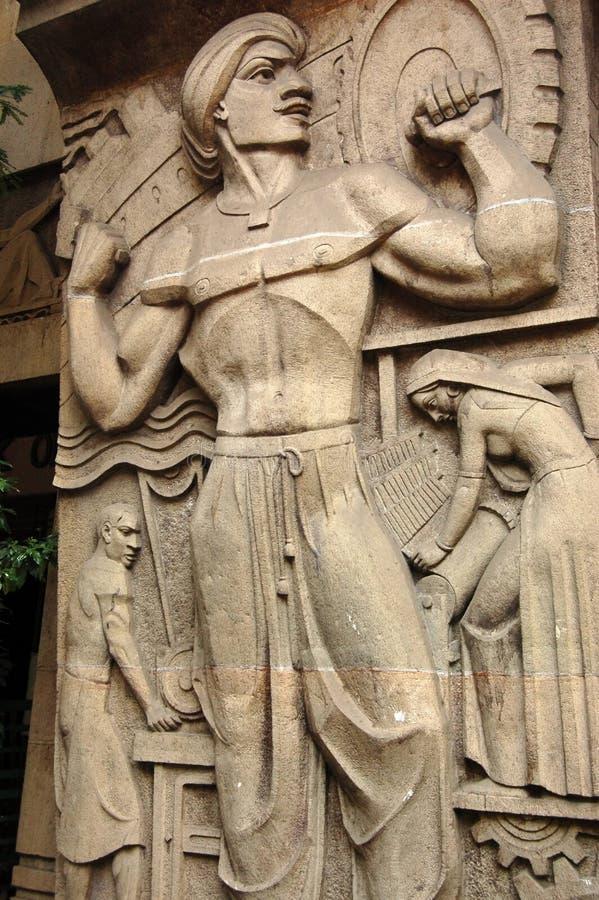 雕刻deco行业mumbai的艺术 图库摄影