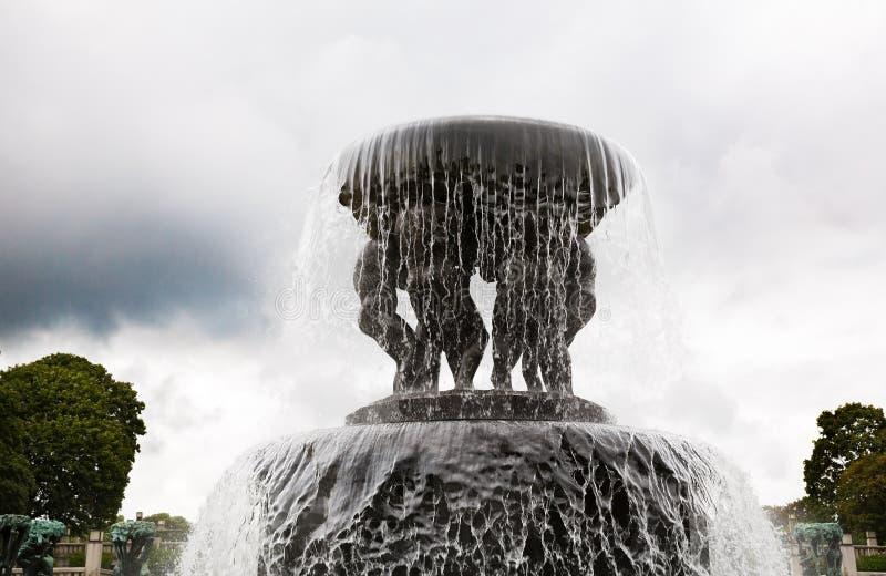 雕塑和喷泉古斯塔夫Vigeland 免版税库存图片