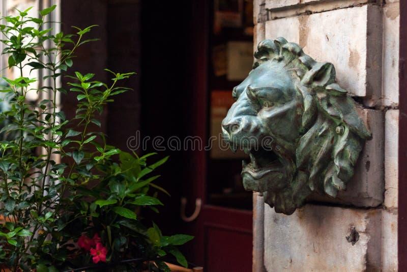 雕塑在利昂,法国艺术博物馆  雕象在Palais圣皮埃尔公园  库存照片