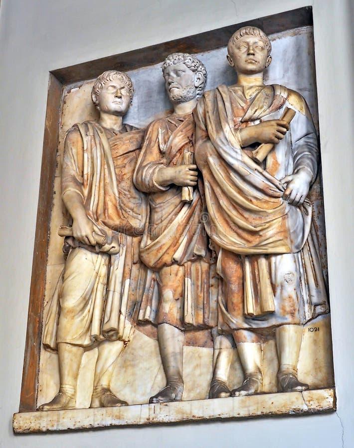雕塑在梵蒂冈,意大利 免版税库存图片