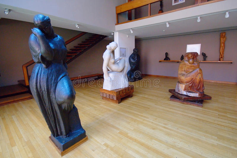 雕塑在Mestrovic工作室,萨格勒布 库存图片