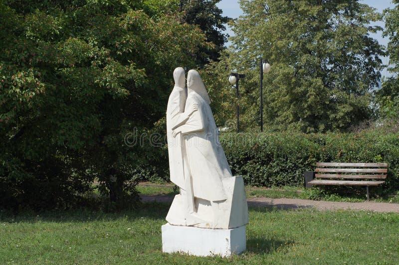 雕塑在Muzeon艺术公园 库存照片