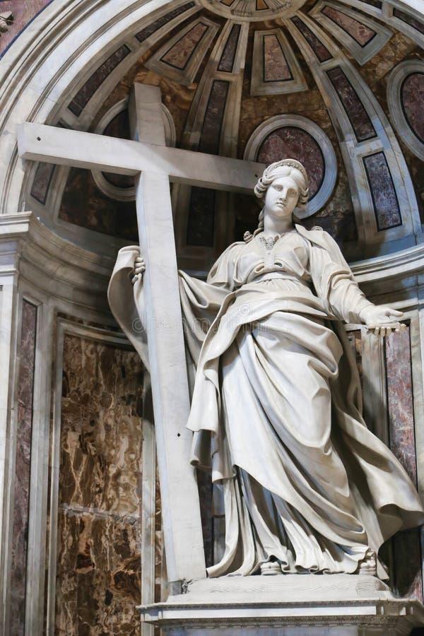 雕塑大教堂-梵蒂冈,意大利 免版税库存照片