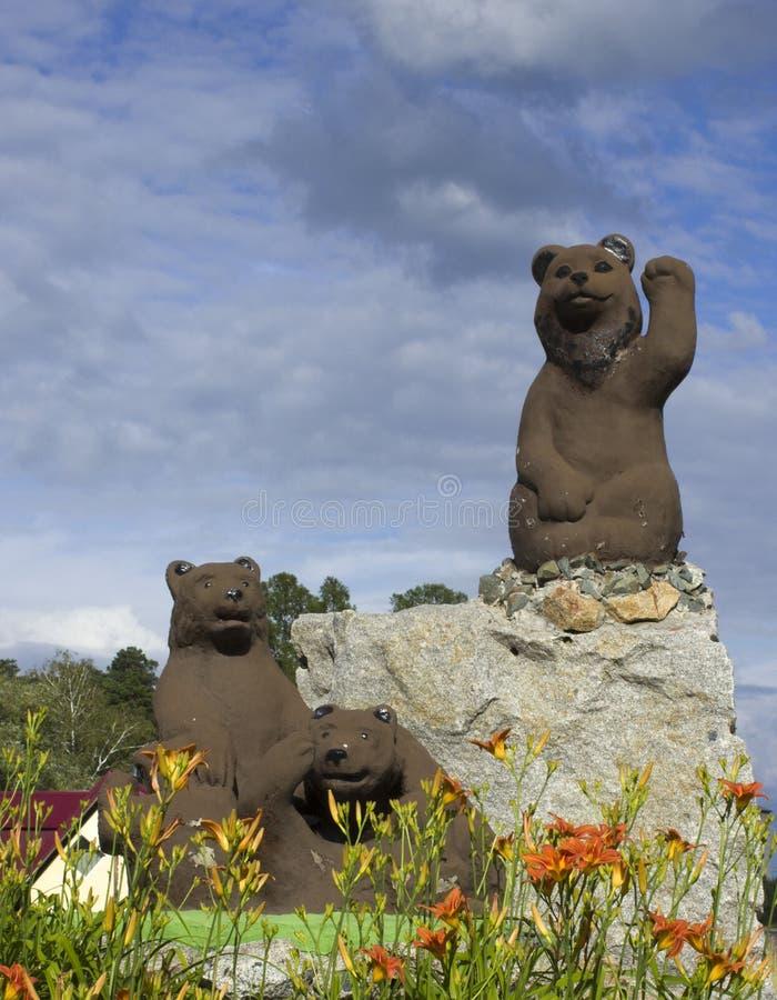 雕塑熊 库存图片