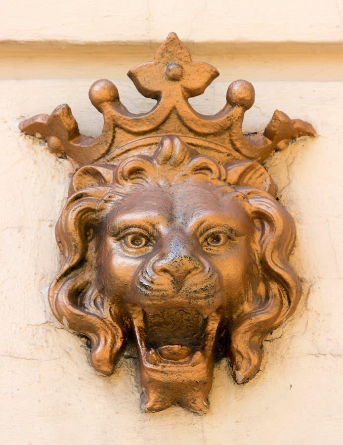 雕塑狮子 免版税库存图片