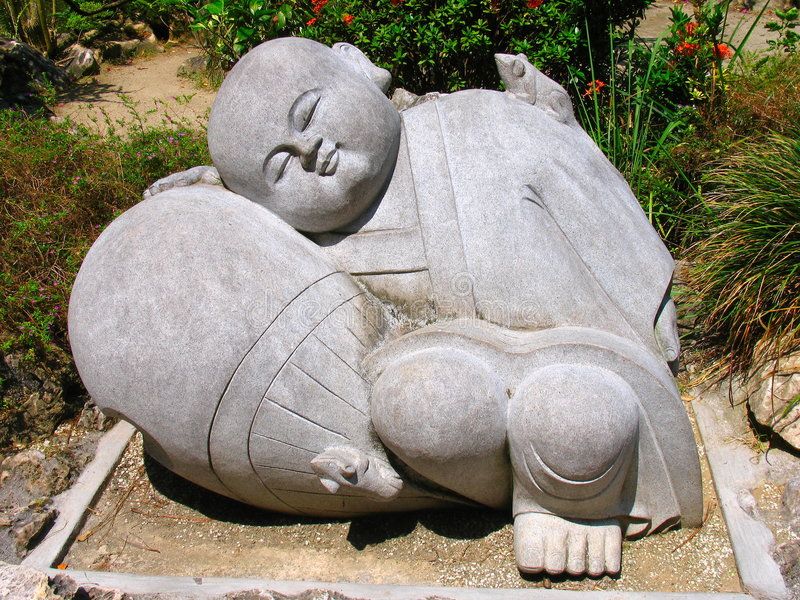 雕塑石头 免版税库存图片