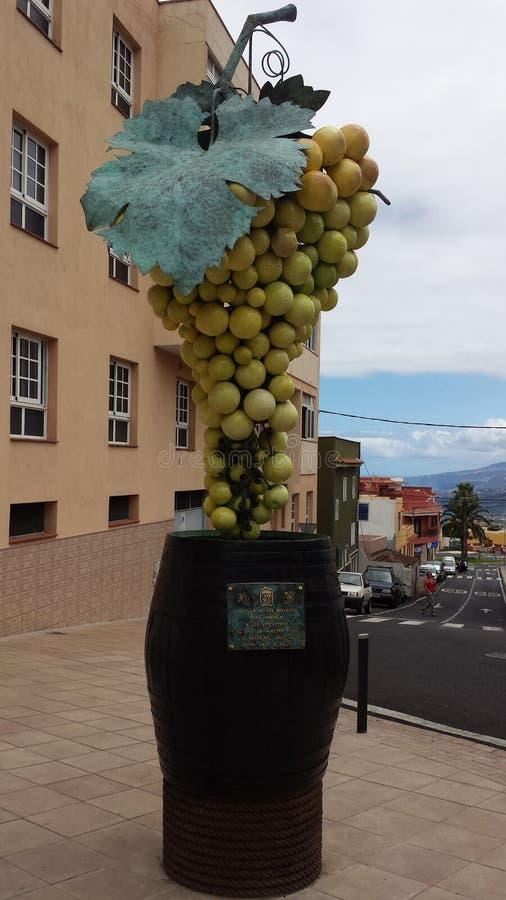 雕塑葡萄 免版税库存照片