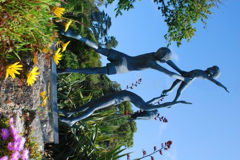 雕塑, Tresco,锡利群岛 图库摄影