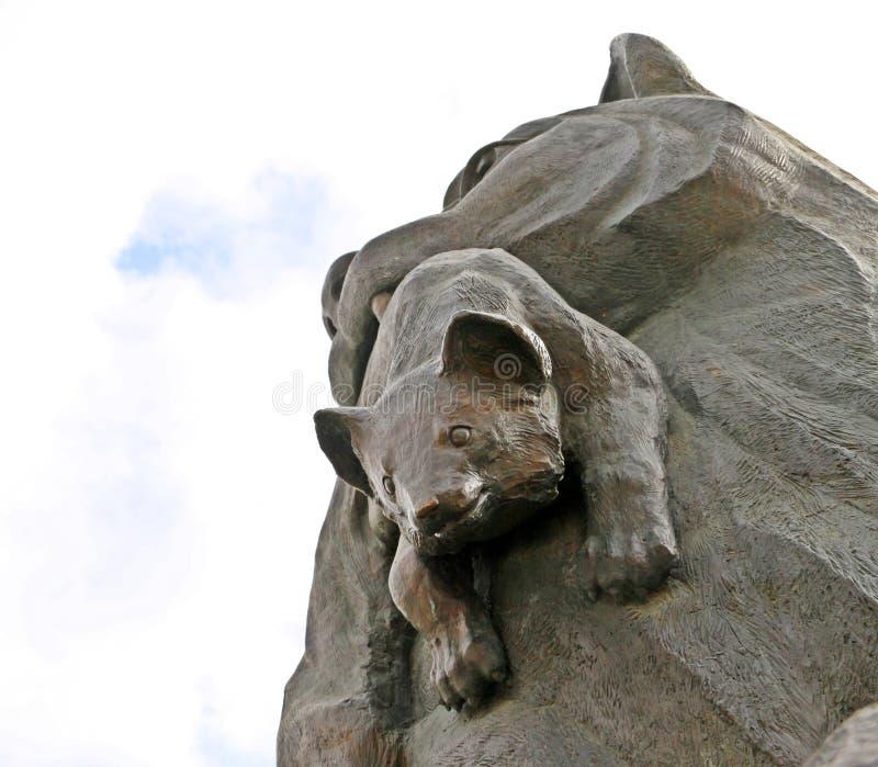 雕塑Babr在伊尔库次克市 库存照片