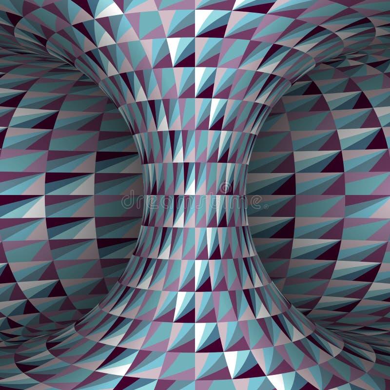 雕琢平面的多角形被仿造的hyperboloid 传染媒介错觉例证 向量例证
