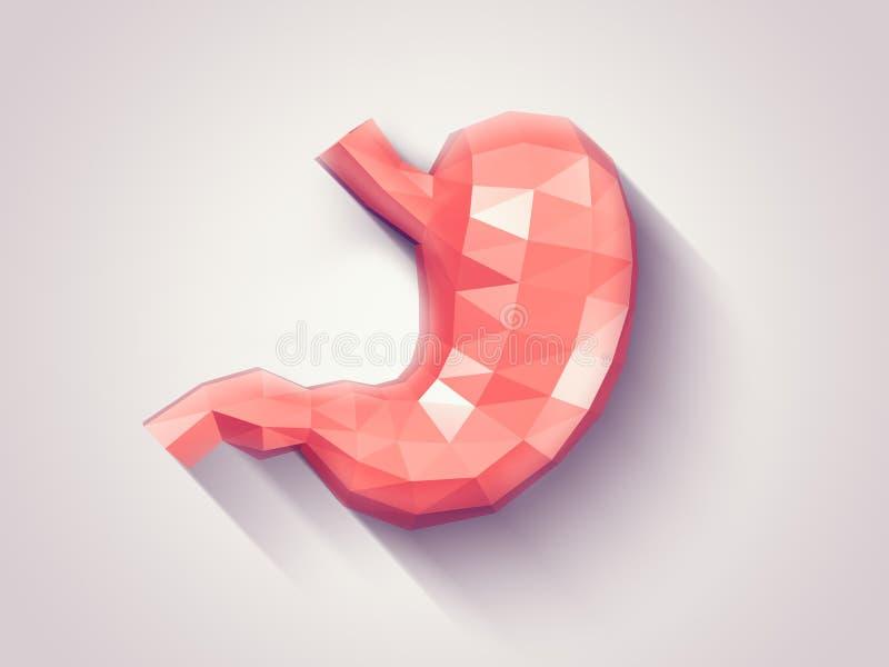 雕琢平面的胃 向量例证