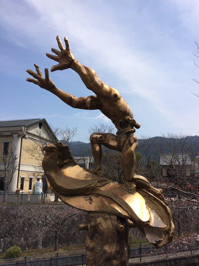 雕象京都神西日本旅行 免版税库存图片